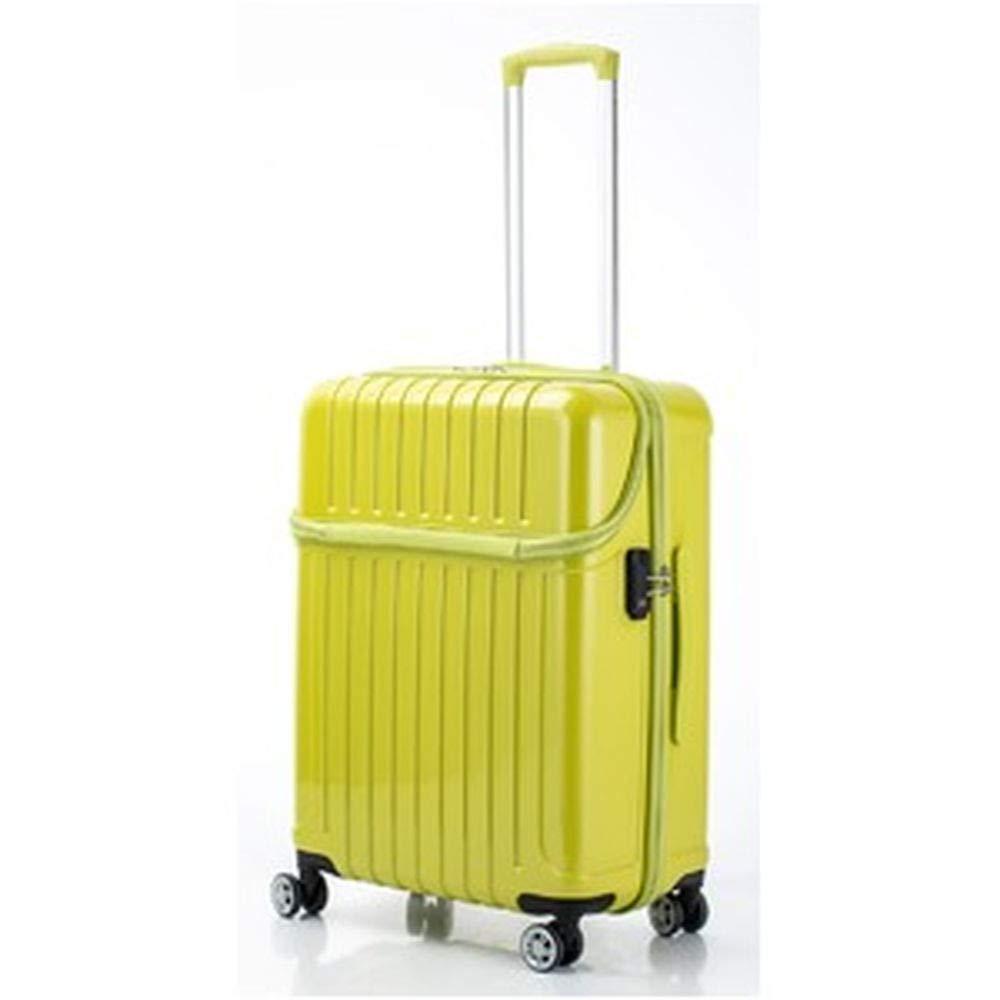 トップオープンスーツケース/キャリーバッグ-ライムカーボン-Mサイズ55L『アクタストップス』- B07TRHH1CN