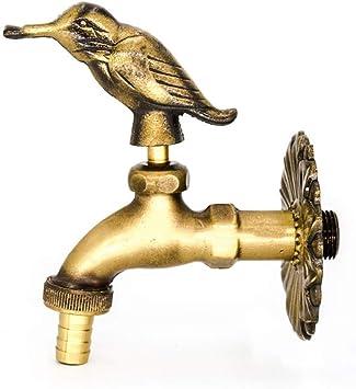 T-TLJW Negro Retro Faucet Baño Cocina water-tap Lavadora fría de ...