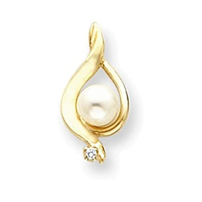 Amazon 14k pearl pendant mounting jewelry 14k pearl pendant mounting aloadofball Image collections