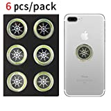 EMF Protection Sticker for Smartphone- Anti-Radiation Shield for Phone, Laptop, Tablet, Microwave, Kindle- Blocks Radiation Neutralizer- Fashionable Bumper Sticker- Healthier Environment (Silver)