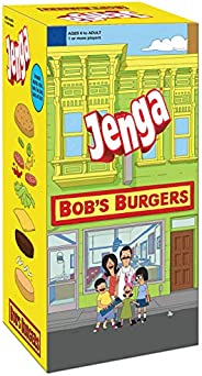 USAOPOLY Bob's Burgers Edition Jenga Game|Move Your Characters Up The Blocks to Score Points|Play As 1 of