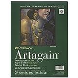 Strathmore 445109 60-Pound 24-Sheet Strathmore Artagain Paper Pad, Black, 9 by 12-Inch
