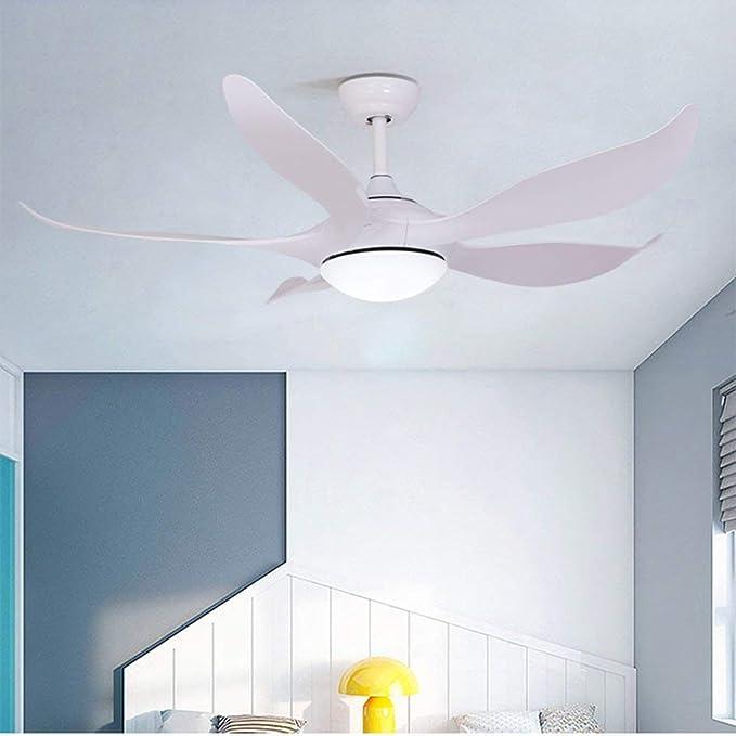 Ventilador de techo blanco de 132 cm con luces LED ventilador de ...