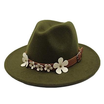 JiuRui Gorros y Sombreros 5 Flores clásico Sombrero Peludo pañuelo de Lana Gorra sombrilla niños Sombreros