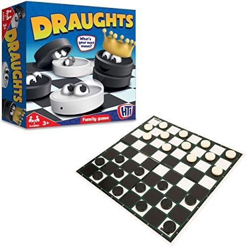 HTI - Damas, para 2 Jugadores (1372491) (Importado): Amazon.es: Juguetes y juegos