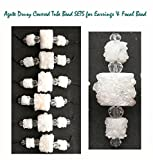 StonesNSilver Gemstone Focal Pendants Gemstone Agate Drusy Covered Tube Bead SETS for Earrings & Focal Bead for Jewelry Making
