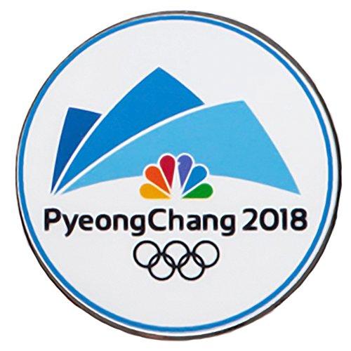 Logo Pin Badge - NBC PyeongChang Logo 2018 Winter Olympics Media Pin Badge (Pyeong Chang Dated White)