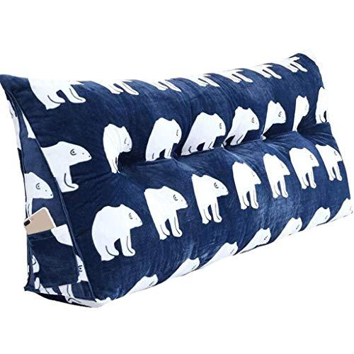 RDMZ Backrest Bed Head Cushion Creative Triangle Double Head Pillow Removable Washable Washable Waist Pillow Big Back Sofa Cushion Bay Window Headboard (Color : B, Size : 200cm(7 Buttons))