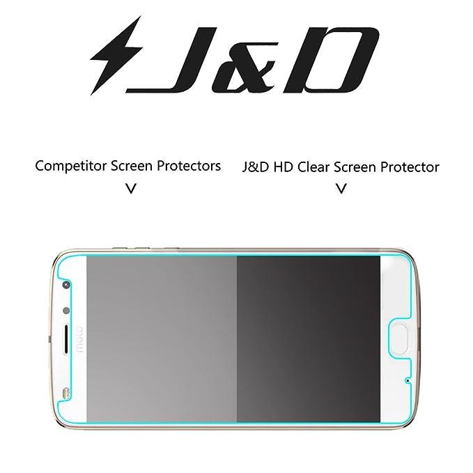 J&D Compatible para 8 Paquetes Moto Z2 Play Protector de Pantalla ...