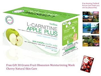 Amazon.com: Verena L-Carnitina Apple PLUS bebida Suplemento ...