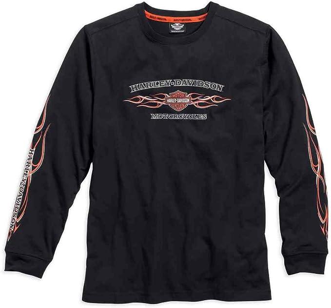 Grey Harley-Davidson Mens Iron Block Long Sleeve Tee