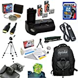 Ultimate Starter Kit for the Canon EOS Rebel T2i T3i T4i T5i 550D 600D 650D 700D Kiss X4 X5 X6 X6i X7i DSLR Digital Camera Package includes: Professional Travel Backpack, 16Gb SD Memory card, 2 Extra LP-E8 Extended Life High Capacity Battery with Vertical