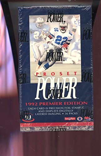 1992 Pro Set Power Football Card Wax Pack Box ProSet FACTORY SEALED