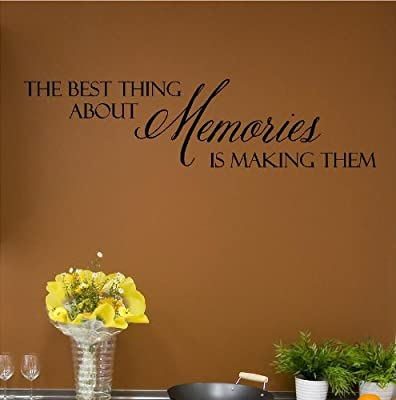 The Best Thing About Memories Is Making Them (M) Wall Saying Vinyl Lettering Home Decor Decal Stickers Quotes