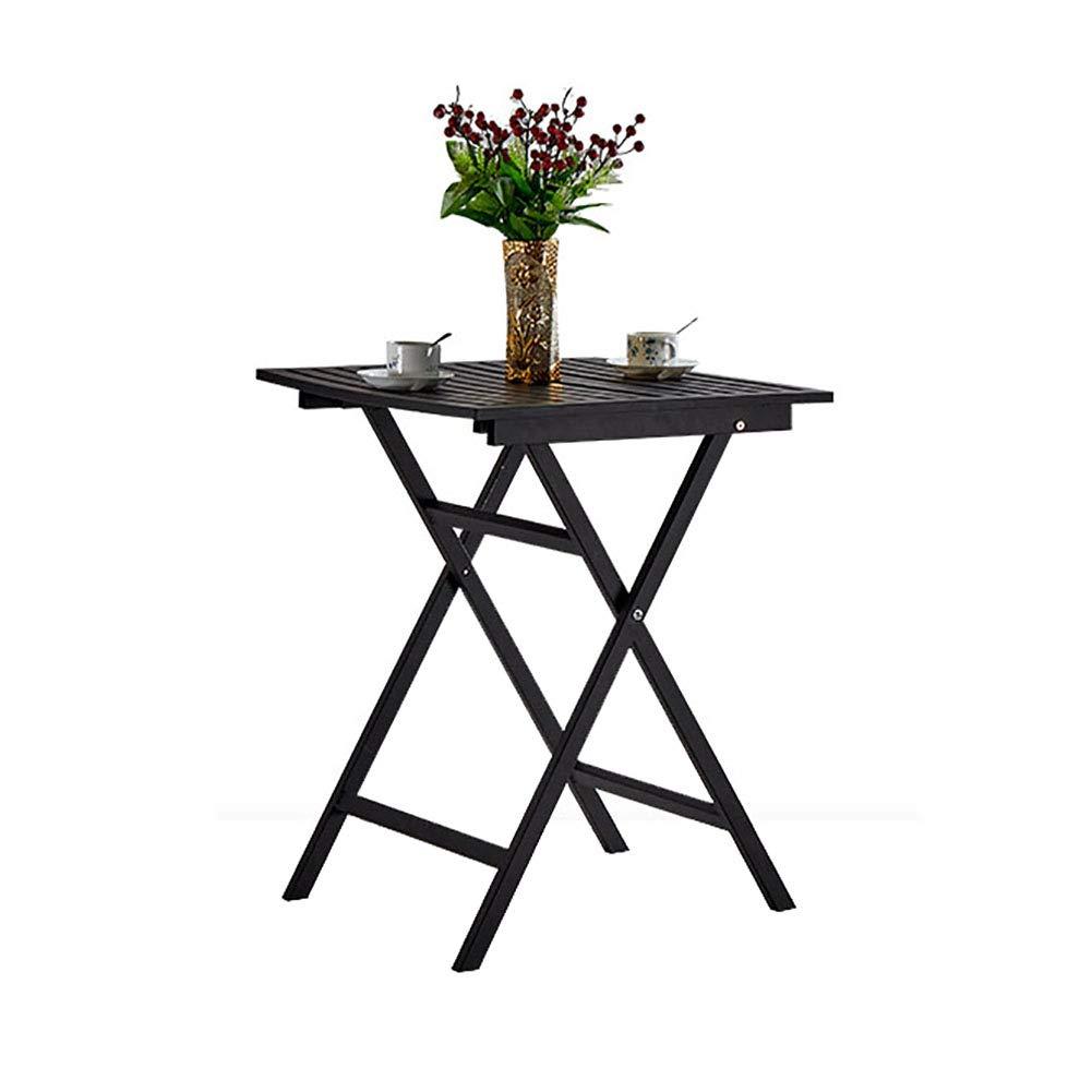 YXX- Sedie da Tavolo Pieghevoli da Cucina di colore Nero da Cucina Home Coffee & Tea & Computer Desk in Metallo Resistente (colore   Table)