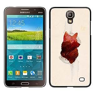 KLONGSHOP // Cubierta de piel con cierre a presión Shell trasero duro de goma Protección Caso - Lobo Forrest - Samsung Galaxy Mega 2 //