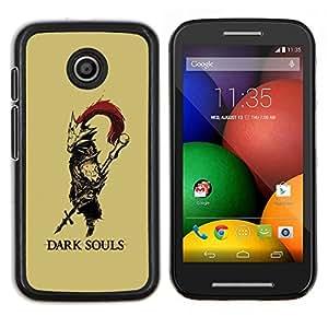 EJOOY---Cubierta de la caja de protección para la piel dura ** Motorola Moto E ** --Alma oscura