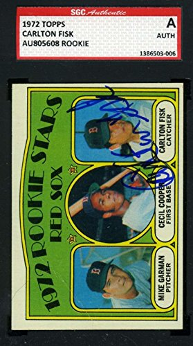 Carlton Fisk 1972 Topps Rookie Hand Signed Sgc Original Authentic Autograph - Baseball Slabbed Autographed ()