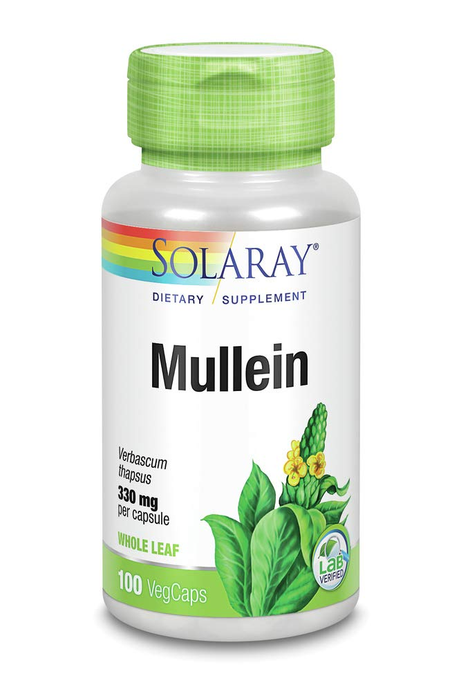 Mullein Leaves 330mg Solaray 100 VCaps