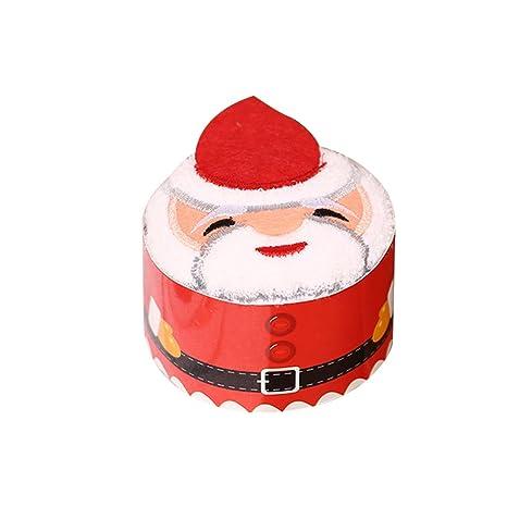OULII Pastel de algodón de Navidad toalla pastel modelado Regalo Chic para la decoración de Navidad