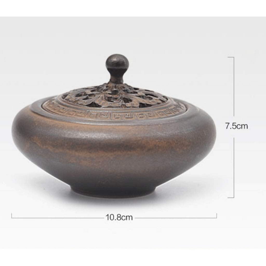 TangMengYun Ceramic Incense Burner Antique Dish Incense Burner Household Incense Holder Incense Burner Tea Ceremony Indoor Aromatherapy (Size : 10.8cm) by TangMengYun (Image #2)
