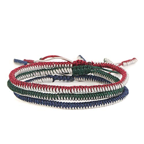 chenJBO Hot sells!Hand-woven hand rope Creative Retro King Kong knot Multicolor Bracelet Men And Women Jewelry Adjustable 3Pcs