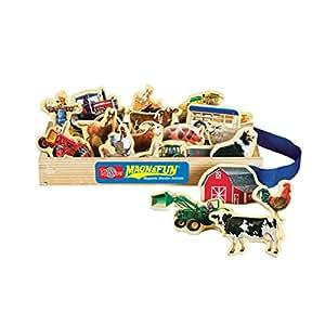 T.S. Shure Farm Vehicles Wooden Magnets 20 Piece MagnaFun Set
