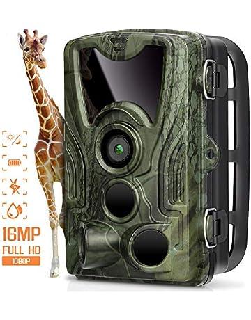 AGM Cámara de Caza, Trail Cámara 16MP 1080P Cámara de Animal Salvaje IP66 Impermeable,