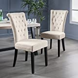 Cheap Christopher Knight Home 238618 Venetian Dining Chair (Set of 2), Light Beige