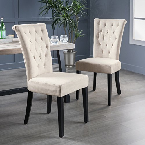 Christopher Knight Home 238618 Venetian Dining Chair (Set of 2), Light Beige