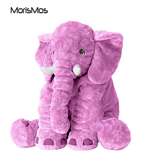 MorisMos Elephant Stuffed Animal Toy Plush Toy for Children Kids Gift Purple 24 inch (Purple Elephant Stuffed Animal)