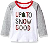 Mud Pie Baby Toddler Boys' Christmas Long Sleeve Raglan T-Shirt, Snow Good, MED/ 2T-3T
