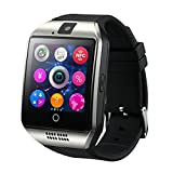 Smart Watch Phone Wireless Bluetooth Sweatproof Smartwatch with Camera Sleep Monitor Fitness Wrist watch for Android Samsung Galaxy S5 S6 S7 HTC Sony LG G3 G4 G5 Edge S8 Google Pixel Huawei (silver)