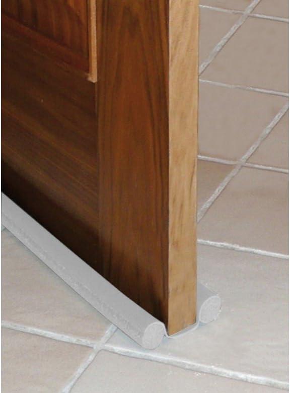 BURLETE B//PUERTA 95cm DOBLE ROLLO PVC BLANCO