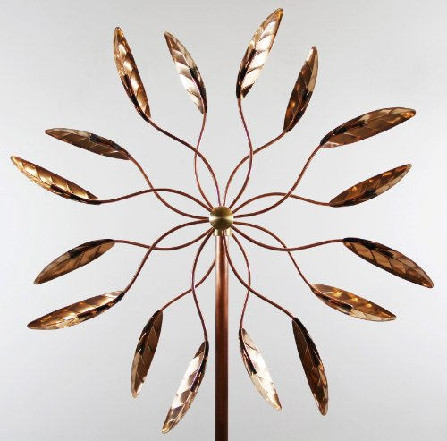 Stanwood Wind Sculpture Kinetic Copper Wind Sculpture Dual Spinner
