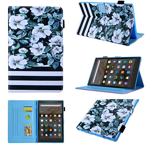(Fire HD 10 Case,Chgdss Cartoon Cute Case,[Auto Wake/Sleep ] Multi-Angle Viewing/Card Slots, with Stand Feature,for All-New Amazon Kindle Fire HD 10.1