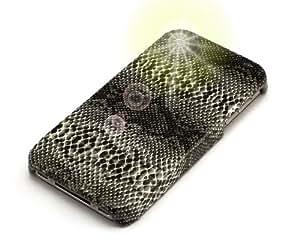 """""""Veneno"""" Negro, El estuche sintético de cuero & """"Fiver"""" Negro, Sostenedor de teléfono - para iPhone 4S. Paquete único de Cubierta / Estuche / Carcasa / Funda & Auténtico sostenedor de teléfono para iPhone 4S."""
