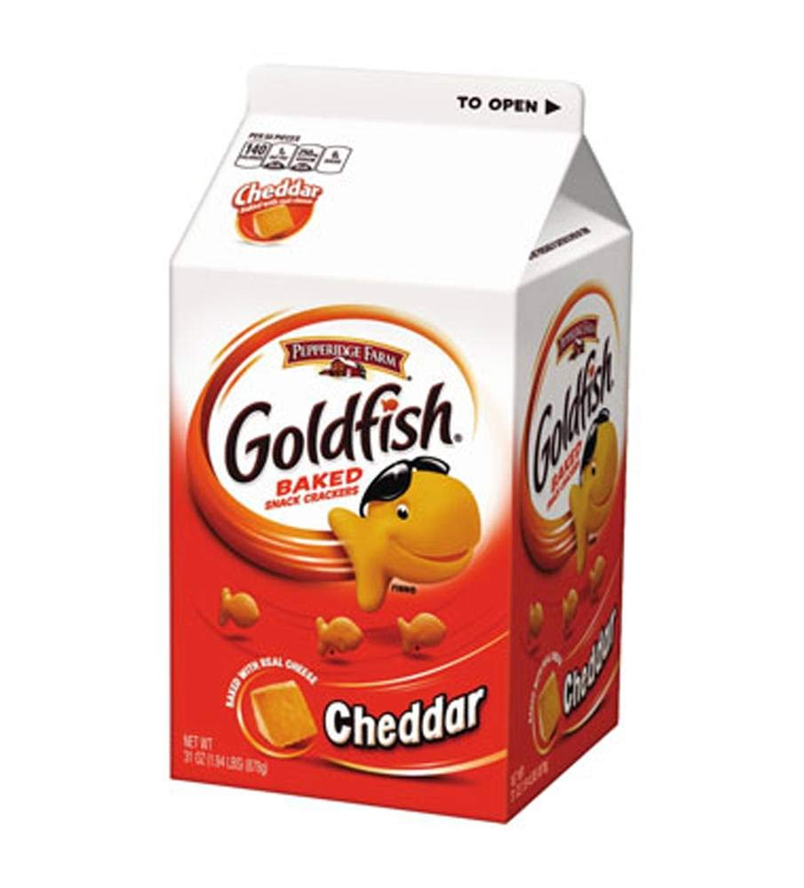 Pepperidge Farm Cheese Flavor Goldfish Crackers, 31-Ounce Units (Pack of 6)