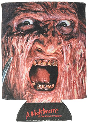 ICUP Nightmare on Elm St. Freddy Krueger Face Huggie/Koozie, Clear -