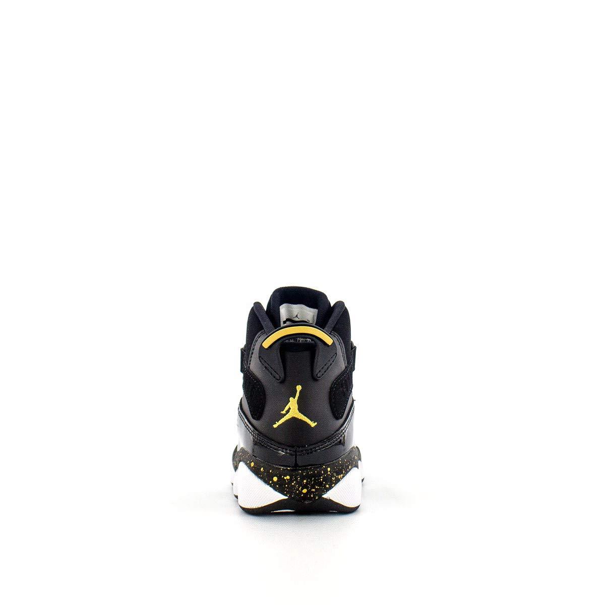 Jordan 6 Rings Black//Metallic Gold-White PS 1.5 M US Little Kid