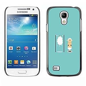 Dragon Case - FOR Samsung Galaxy S4 Mini i9190 - ?who would risk it? - Caja protectora de pl??stico duro de la cubierta Dise?¡Ào Slim Fit