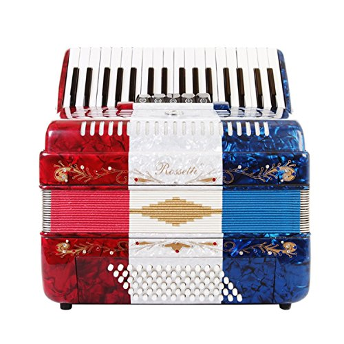 Rossetti Piano Accordion 60 Bass 34 Keys 5 Switches US Flag by Rossetti