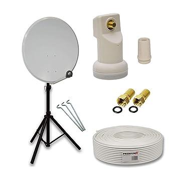 PremiumX camping Juego de satélite (Antena Parabólica móvil ...