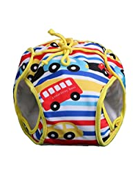 [Colorful Car] Reuseable Baby Swim Diaper Lovely Infant Swim Nappy Swimwear