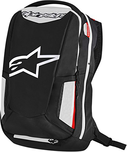 Alpinestars 3517-0403 Black/White/Red 25 Liter City Hunter (Alpinestars Backpack)