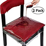 #8: OULII Chair Protector Waterproof PVC Dining Chair Covers Removable, Pack of 2