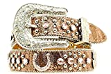 Nocona Girl's Horseshoe Conchos Belt, Brown, 26