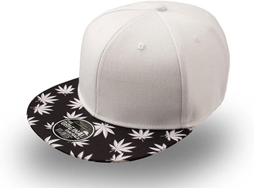 Gorra visera plana con dibujo de hojas de marihuana. Paneles ...