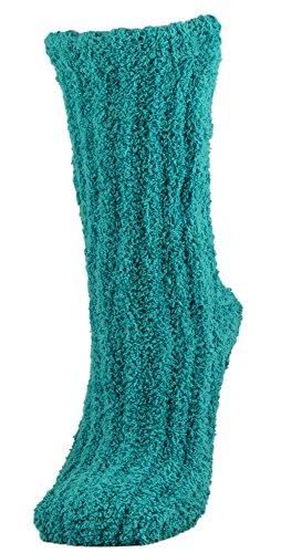 Snoozies Shea Butter Infused Gemtone Slumber Sleeper Socks 2 Pair Pack - Emerald
