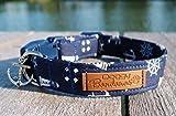 Nautical Dog Collar by DoggyBanda, Summer Adjustable Dog Collar with plastic buckle, Anchor Sail Dog Collar for Boys and Girls : Small, Medium, Large & X-Large Sizes